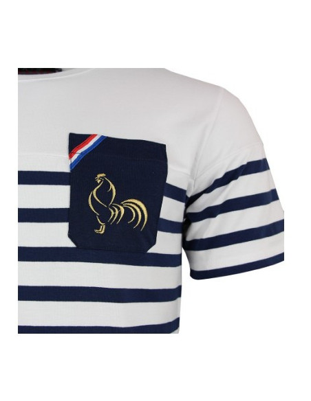 T-shirt rugby France Marinière