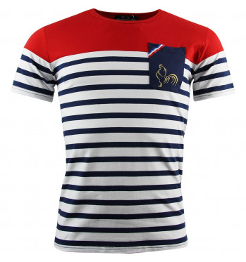 T-shirt rugby Marinière France