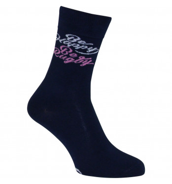 Chaussettes rugby Ball - Gris - Coton Bio