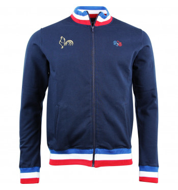 Sweat zippé France rugby - Marine