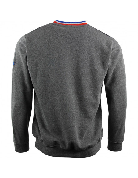 Sweat Rugby French coq - Coton Bio - Gros Chiné