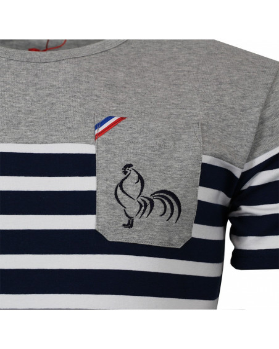 T-shirt de rugby Jamais sans ma mariniére