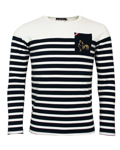 T-shirt de rugby Classic Marinière ML