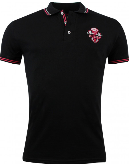 Polo rugby KALI - Noir