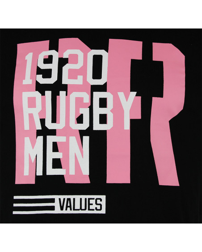 T-shirt de rugby RR values - Noir