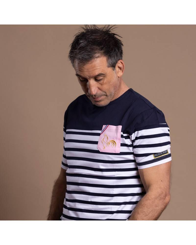 T-shirt de rugby Squad - Noir