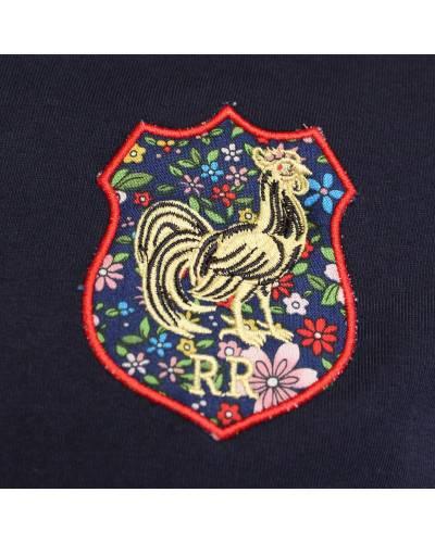 T-shirt de rugby Le bras en marinière