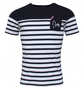 T-shirt rugby Marinière Classic Grand large