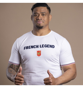 T-shirt French Legend - blanc