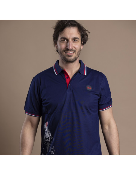 Polo Rooster Rugby Blazer - bleu